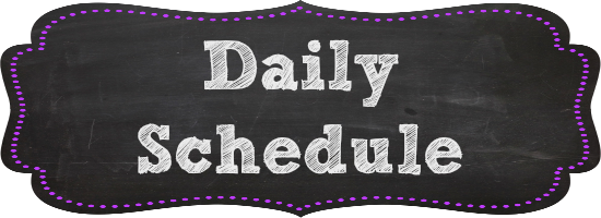 Image result for daily  schedule banner
